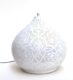 Tafellamp filigrain - klein | wit goud