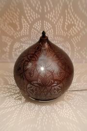 Tafellamp filigrain - groot   roestbruin