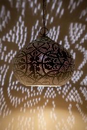 Hanglamp filigrain - klein | wit/goud