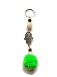Gelukshandje - beads & pearls   groen