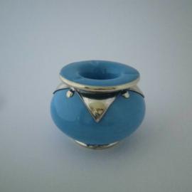 Marokkaanse asbak Sahara L - turquoise/zilver