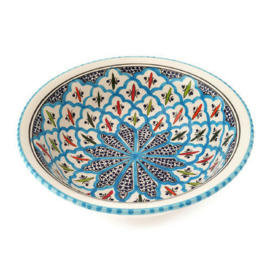 Saladeschaal turquoise blue fine - XS