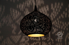 Hanglamp filigrain - klein | zwart/goud