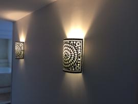 Wandlampen van glasmozaiek