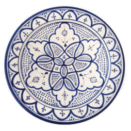 Marokkaans bord L - 'Delfts blauw'