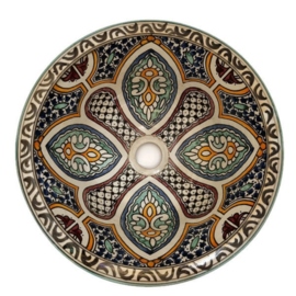 Marokkaanse waskom - 35 cm   Mandala