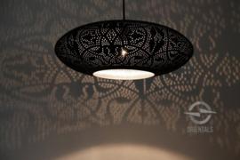 Hanglamp filigrain - ufo   zwart zilver