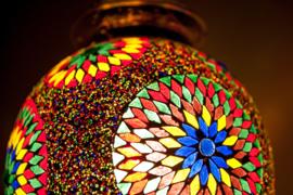 Hanglamp - Papaja | Glas & kralen | Multicolor