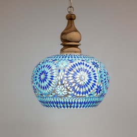 Hanglamp Open - L | blauw