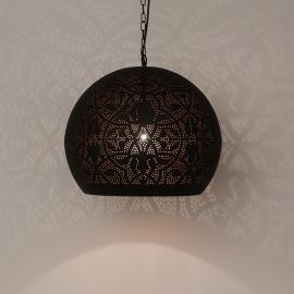 Hanglamp filigrain - bol | zwart/koper