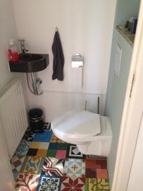 Kleurrijk toilet