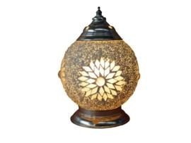 Tafellamp S - Glasmozaiek & kralen | wit