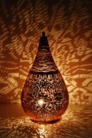 Tafellamp filigrain - wire | vintage koper - groot