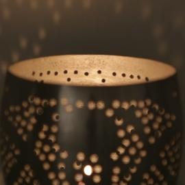 Waxinehouder filigrain | vintage zilver