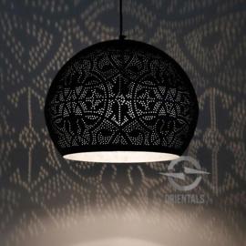 Hanglamp filigrain - bol   zwart/zilver