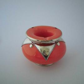 Marokkaanse asbak Sahara L - oranje/zilver