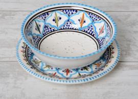 Fruitschaal - 25 cm | turquoise blue fine
