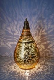 Tafellamp filigrain - wire | vintage goud
