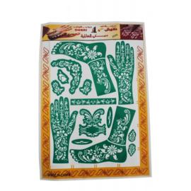 Henna sjablonen - hand & voet