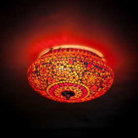 Plafonnière S - Glasmozaiek | rood fine | Gereserveerd