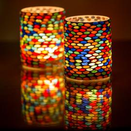 Waxinehouder - cilinder seeds | multicolor