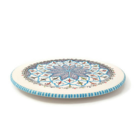 Bord turquoise blue fine - 33 cm