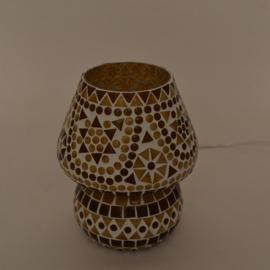 Schemerlamp - Glasmozaiek | bruin
