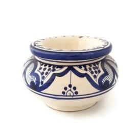 Asbak Safi S - wit/blauw