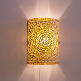Wandlamp - Glasmozaiek | bruin