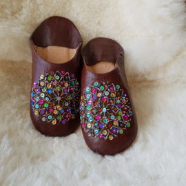 Babouches - bruin / multicolor