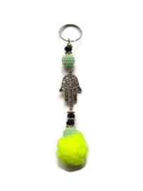 Gelukshandje - beads & pearls | geel