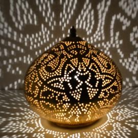 Tafellamp filigrain - groot | goud