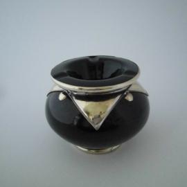 Marokkaanse asbak Sahara L - zwart/zilver
