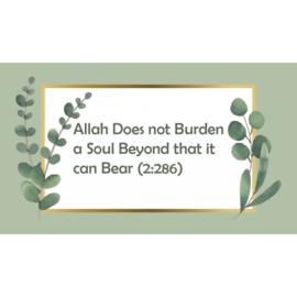 Magneet | Allah does not burden...