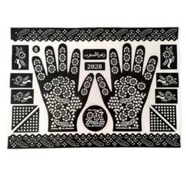 Henna sjablonen - hand