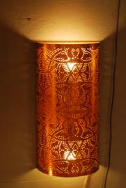 Wandlamp filigrain | vintage koper