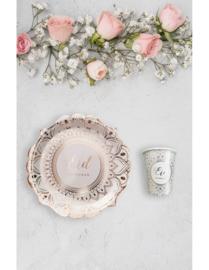 Borden | Eid mubarak | Desert Rose -wit/goud