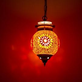 Hanglamp S - Glasmozaiek & kralen | rood