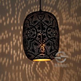 Hanglamp filigrain - zwart goud