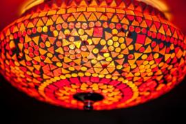 Plafonnière S - Glasmozaiek | rood fine