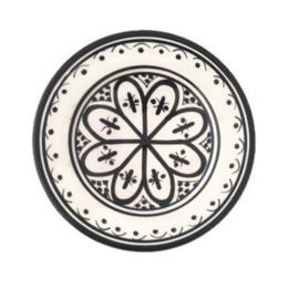 Gebaksbordje - Zwart/wit