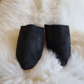 Babouches - zwart