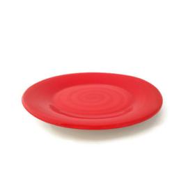 Dinerbord rood