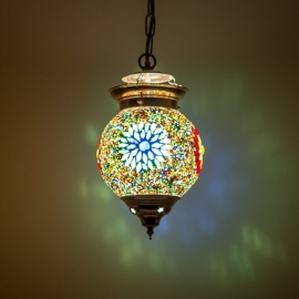 Hanglamp S - Glasmozaiek & kralen | multicolor