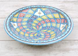 Platte schaal - 30 cm | turquoise blue