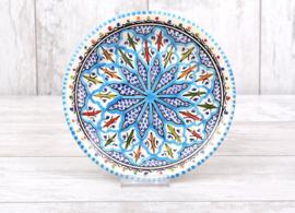 Gebaksbordje - turquoise fine - 15 cm