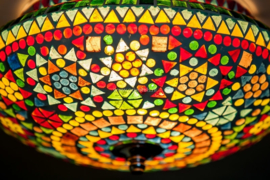 Plafonnière S - Glasmozaiek | multicolor fine