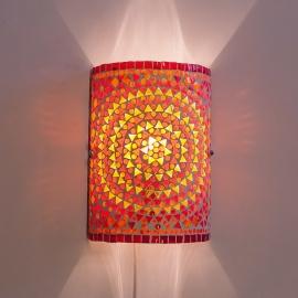 Wandlamp - Glasmozaiek | rood