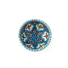 Schaaltje turquoise blue fine - XS