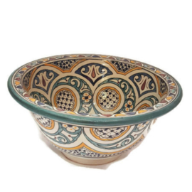 Marokkaanse waskom - 35 cm | Mandala